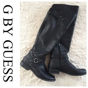 🦋 G By Guess Black Equestrian Style Boots Sz 9